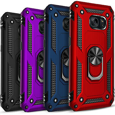$ CDN9.69 • Buy For Samsung Galaxy S7 Case, Ring Kickstand HolderCover+ Tempered Glass Protector