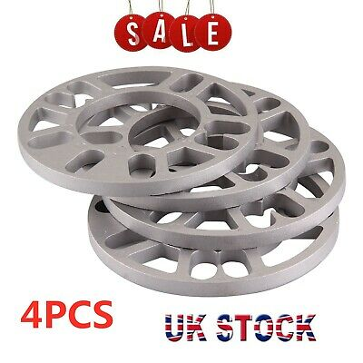 4 X 10mm Universal Set Kit Alloy Wheel Spacers Shims Spacer 4 & 5 Stud Fit • 9.29£