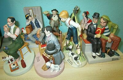 $ CDN111.26 • Buy Normal Rockwell Lot Of 7 Figures Caught In The Act The Danbury Mint Porcelain