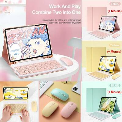 Removable Wireless Keyboard W Bluetooth Mouse Case Cover For Apple IPad Models • 27.68£