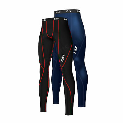 FDX Mens Athletic Compression Base Layer Pant Legging Tight Running Under Tight • 11.25£
