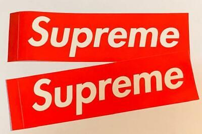 $ CDN10.06 • Buy Supreme Lot Of 2 Red Logo Stickers Authentic