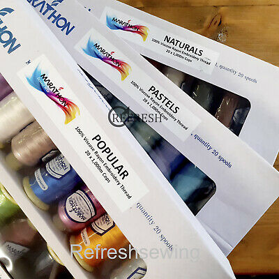 £46.95 • Buy Marathon Machine Embroidery Thread 20 X1000mtr Rayon Box Set For Brother Janome