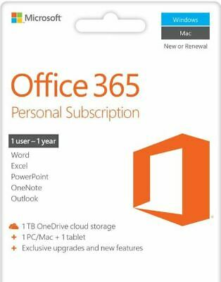 AU103.29 • Buy Microsoft Office 365 Personal 1-PC/MAC 1 Year  Fast Delivery Email - EUROPE ONLY