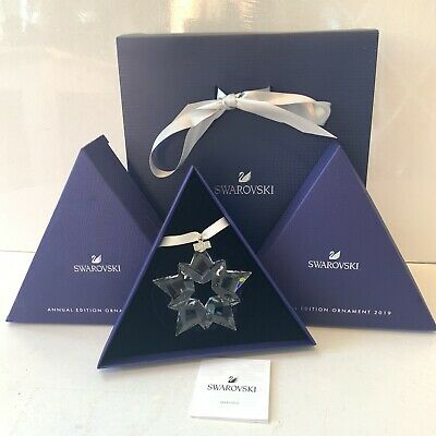 Authentic Swarovski Snowflake 2019 Ornament Christmas Star Boxed Collectors • 44£