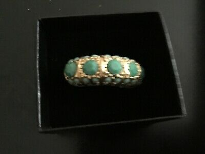 $ CDN37.60 • Buy Size 9.Lia Sophia Women's Gold Tone Ring With Green Stone New Without Packaging