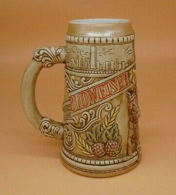 $ CDN14.94 • Buy Budweiser 1980 Chicago Skyline Limited Edition Beer Stein Mug Ceramarte