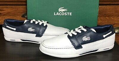 LACOSTE Dreyfus Men's Leather Sneakers Boat Shoes US 9 New/Minor Imperfections • 48.23£