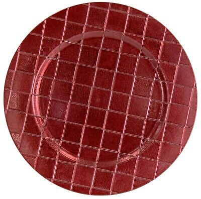 £14.99 • Buy Set Of Deep Red Christmas Charger Plates 33cm Under Plates Round Chargers