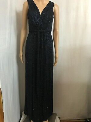 AU24 • Buy Asos Maternity Size 10 Black Sparkly Special Occasion Maxi Dress