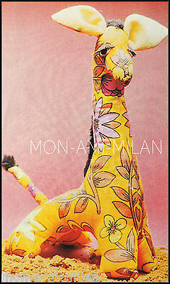 Giraffe Sewing Pattern Photocopy To Make A Zoo Animal Soft Toy Ornament Doorstop • 2.99£