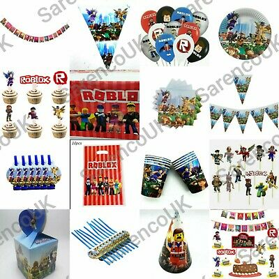 £4.69 • Buy All New Roblox Party Balloons Tablecloth Banner/Flag Plates Cups Party Supplies