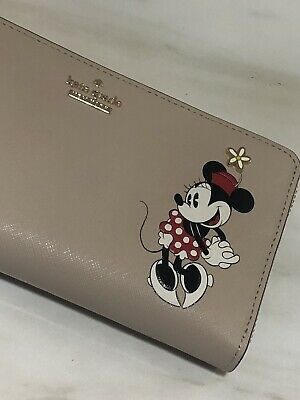 $ CDN159 • Buy NWT Kate Spade Minnie Mouse Lacey Large Continental Zip Around Leather Wallet