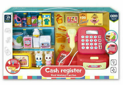 £12.99 • Buy Toy Cash Register Kids Role Play Till Toy Play Set Real Working Function