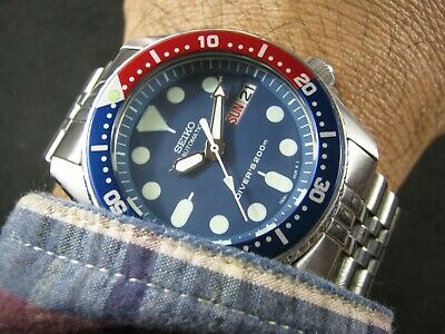 $ CDN320.13 • Buy SEIKO SKX013 Mod Batman Water Proof Tested Junior / Medium Size A1 Condition