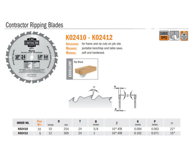 Contractor Ripping Saw Blades • 10.80£