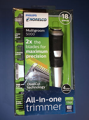 AU35.19 • Buy Philips Norelco 5000 Multigroom Hair Trimmer With 18 Attachments - MG5750/49