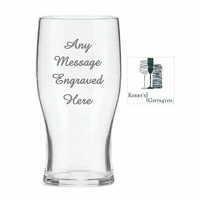 Personalised Engraved Pint Beer Glass - Christmas Gift For Him Her Men Women NB • 6.99£