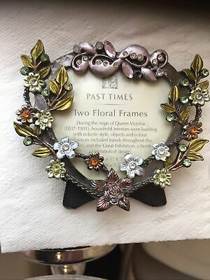 Past Times  Beautiful Floral Photo Picture Frame With Crystals • 11.99£