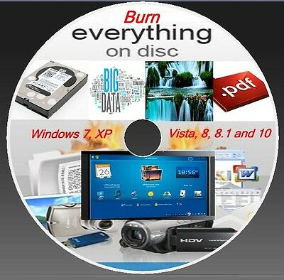 Cd  Dvd  Copy Burning Software- Burner Program - Window ( Xp,vista,7,8,8.1,10 ) • 2.79£