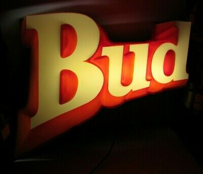 $ CDN473.48 • Buy Large Vintage Budweiser Bud Beer 3-D Lighted Wall Hanging Sign