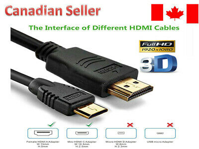 $ CDN6 • Buy Mini HDMI To HDMI Cable High Speed 1080p FOR HDTV Gold Plated 3 Feet