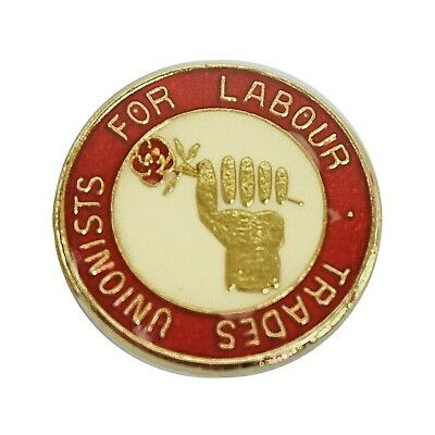 Vintage 1980's Trade Unionist For Labour Political Supporters Enamel Pin Badge • 15£
