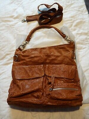 Tan Leather Hangbag For Ladies With Dust Bag With Long Should Strap  • 14.99£