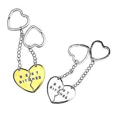 2 Parts Pendant Keyring Keyfob Keychain Best Friend Best Bitches Party Gifts • 4.45£