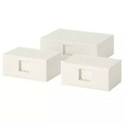 Exclusive 1 Set Of 3 Small Lego X Ikea Storage Boxes MINT Condition In Packaging • 29.99£