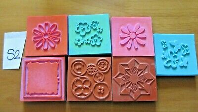 7 Foam Rubber Stamps - Various Patterns (S2) • 3.99£
