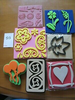 7 Foam Stamps  - Flower Theme (S13) • 4.99£