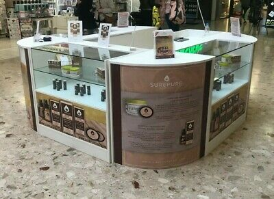 £1350 • Buy Shop  Counters Set Glass Shelves Mobile Phones Vapes And Jewellery Vets Kiosk