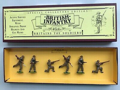 William Britain's - 8803 - British Infantry Box Of Soldiers - Mint Condition! • 25£