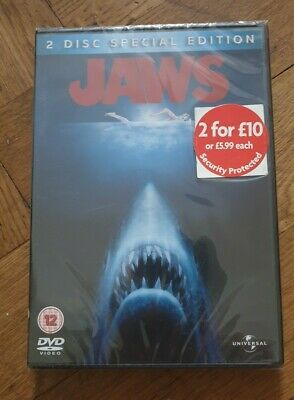 Jaws (DVD, 2005, 2-Disc Special Edition Set) SEALED Classic Spielberg Shark Film • 4.40£