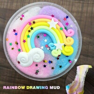 AU5 • Buy Slime Puff Multiple Colour Fluffy Mud Stress Kids Toy Gifts - AU Seller