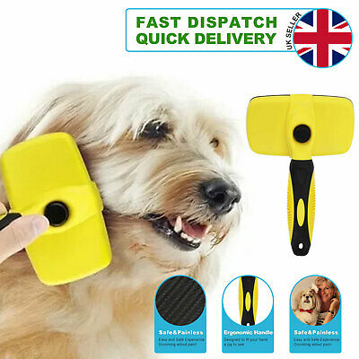 £7.59 • Buy Self Cleaning Pet Dog Cat Slicker Brush Grooming For Medium And Long Hair Pets