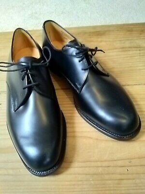 Superb Bnwot Sanders Black All Leather Shoes Size 8.5 Fit 7 • 60£