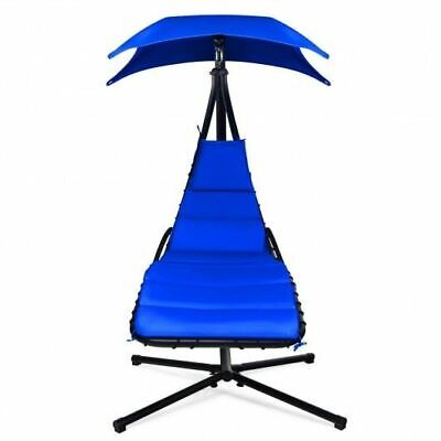 Durable Hanging Stand Navy Chaise Lounger Swing Chair W/Pillow- • 201.40£