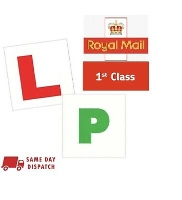 4 Magnetic L&p Pass Plates Learner Driver Exterior Car Driving Lesson Sign Plate • 3.50£