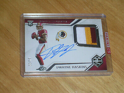 $ CDN72.86 • Buy 2019 Panini Limited Dwayne Haskins 3-color Auto Rc.patch #/75!! Panini Sealed!!
