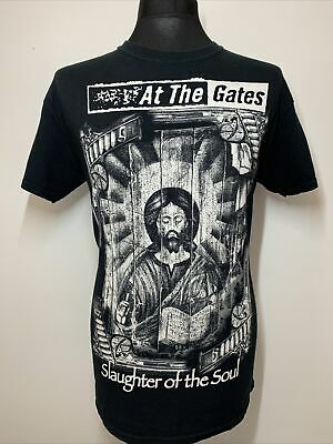 At The Gates Black Music T Shirt Tee Slaughter Of The Soul Medium • 16.99£