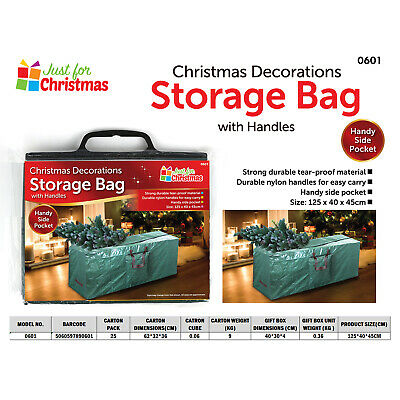 Large Xmas Tree Storage Bag For Christmas Tree Decoration Zip Up Bag 125cm UK • 6.95£