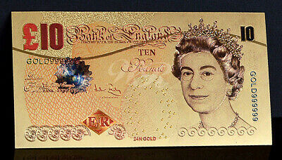 24 Carat Gold Leaf £10 Ten Pound Note Collectable  • 1.85£