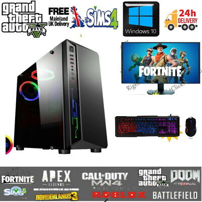 Fast Gaming PC Computer Bundle Intel Quad Core I5 16GB 1TB Windows 10 GT710-2GB • 274.99£