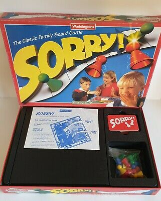 SORRY! Classic Fun Family Board Game Vintage Waddingtons 1996 90s - Complete  • 11.95£