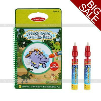 Water Drawing Book Magic Doodle Coloring Book Learning Painting & Pen For Kids • 4.88£