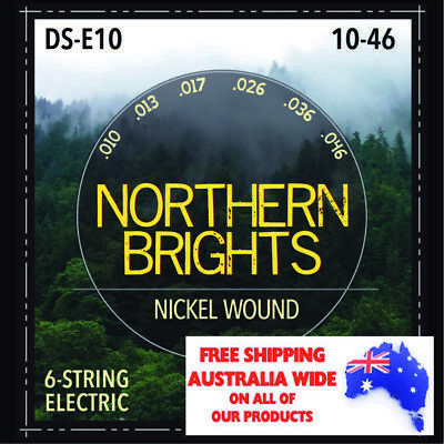 $ CDN10.31 • Buy Northern Brights DS-E10 | Premium Nickel-Wound Electric Guitar Strings | 10-46