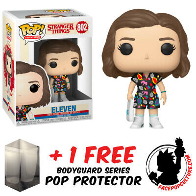 AU19.90 • Buy Funko Pop Vinyl Stranger Things Eleven In Mall Outfit #802 + Free Pop Protector