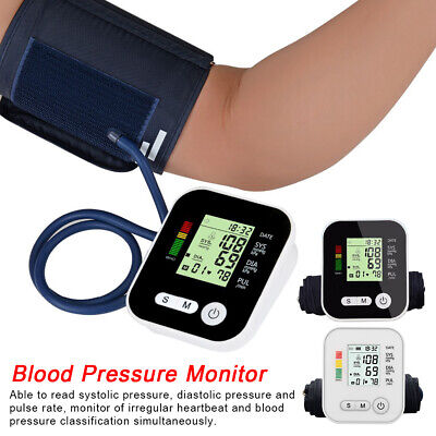 Automatic Blood Pressure Monitor Upper Arm Digital BP Machine With Large Cuff • 18.82£